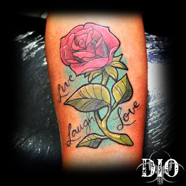 rose live laugh love