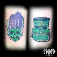 frankenstein skulls couples tattoos.jpg