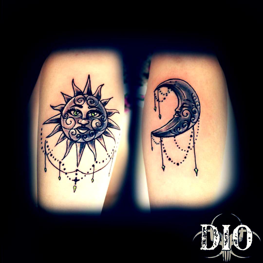 sun & moon chandaliers