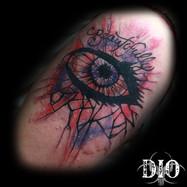 Beautifully broken eye & glass watercolo