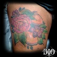 flowers & lemons on thigh dark skin.jpg