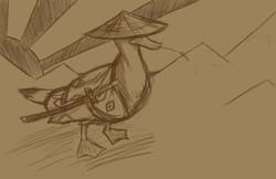 samurai duck