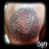 simba lion king leaf mane on dark skin.j