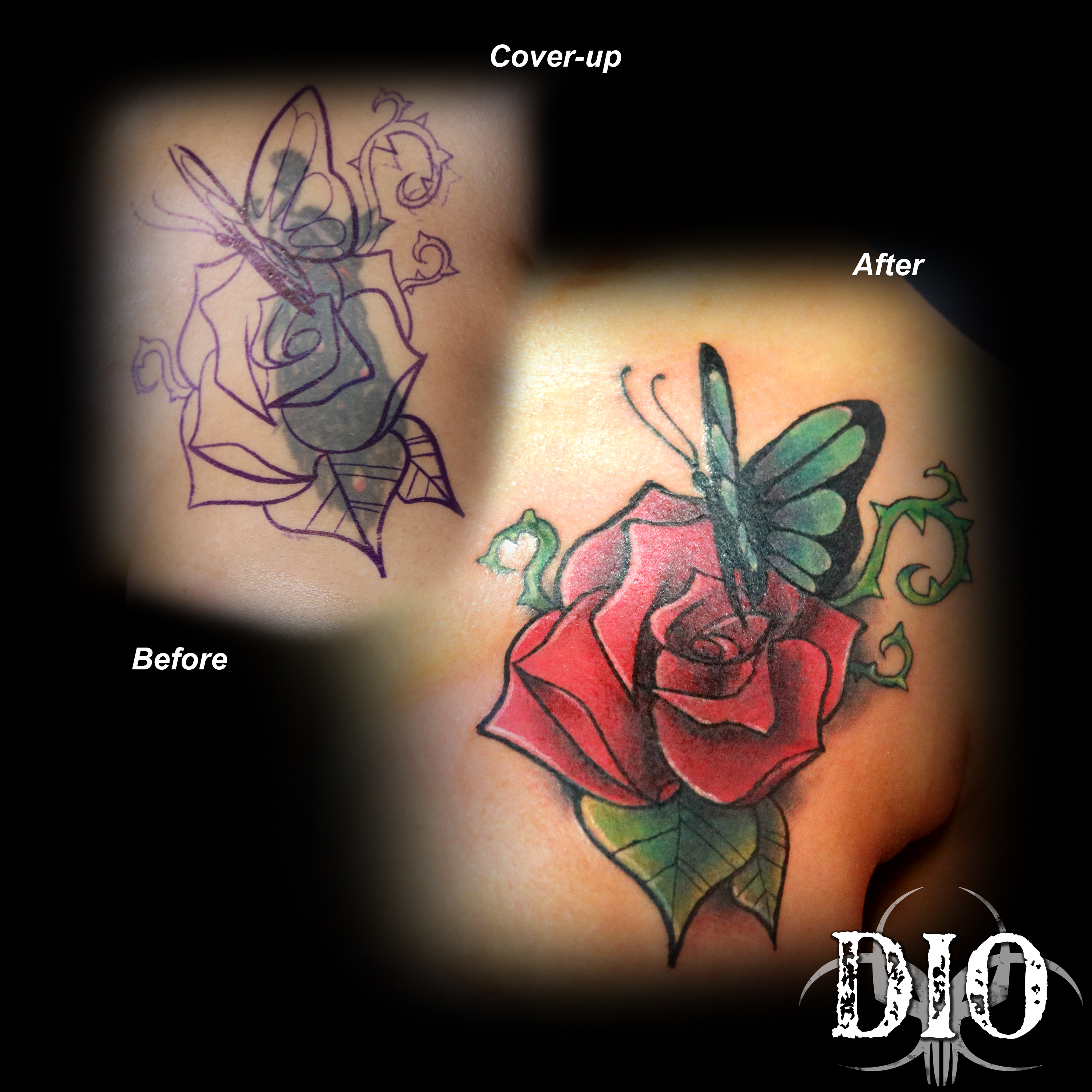 butterfly rose vines coverup