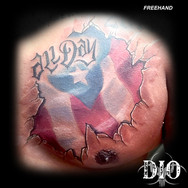 freehand puerto rico flag cracked skin s