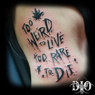 too weird to live too rare to die script