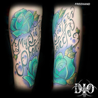 freehand teal roses my sisters protector