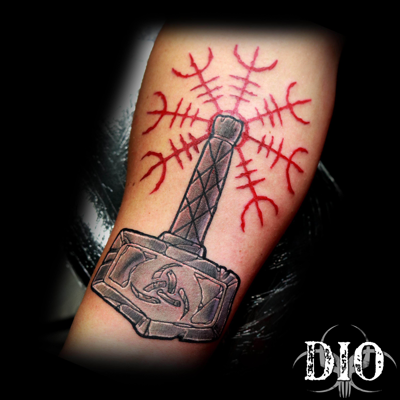 norse mjonir thor odin viking hammer