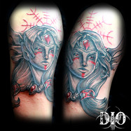 Freya viking warrior norse half sleeve.j