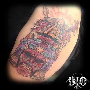 mayan warrior mask half sleeve.jpg