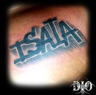 isaia thick graffiti name on chest dark