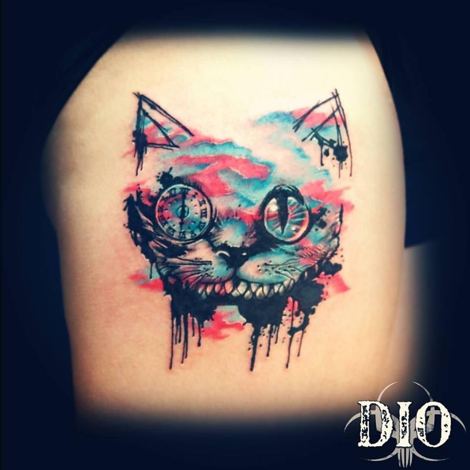 cheshire cat watercolor trash polka2