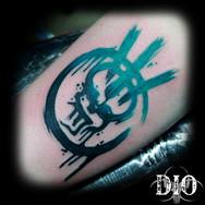 fallout raider logo symbol spray color f