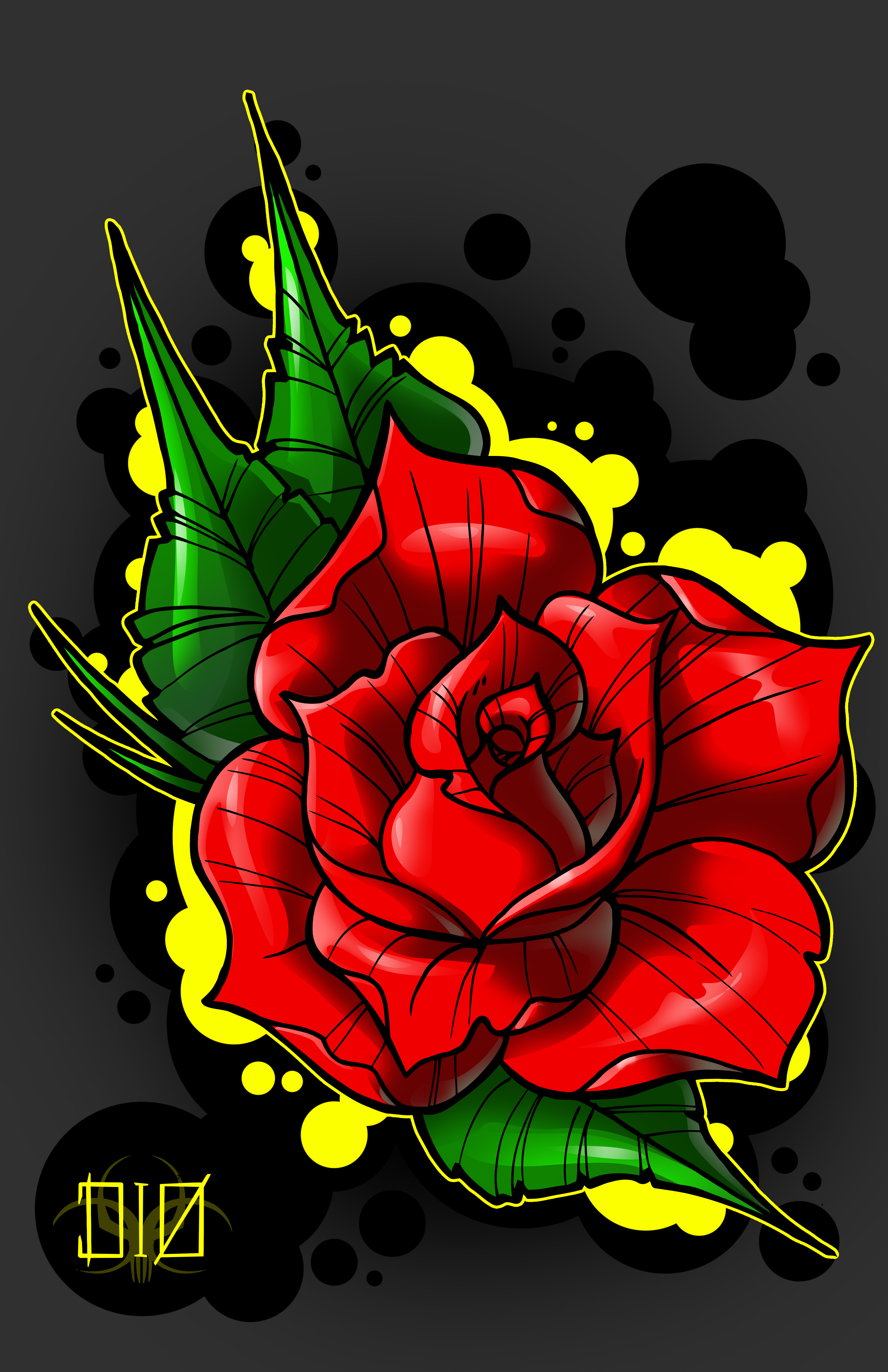 NeoTraditional Rose