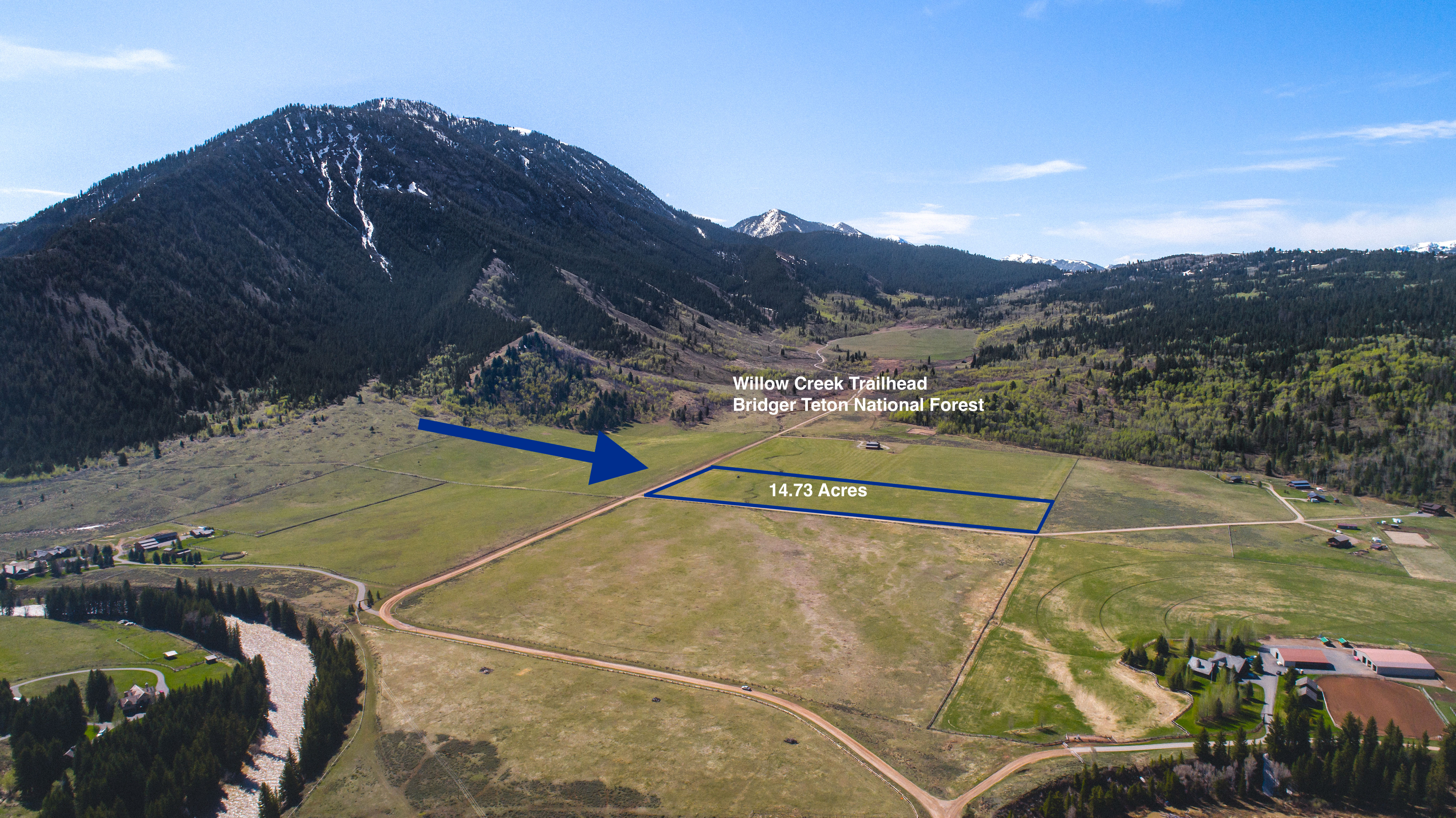 Aerial 14.73 acres with Outline small