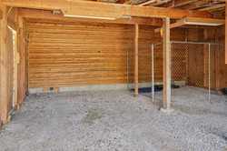 Carport with dog kennel