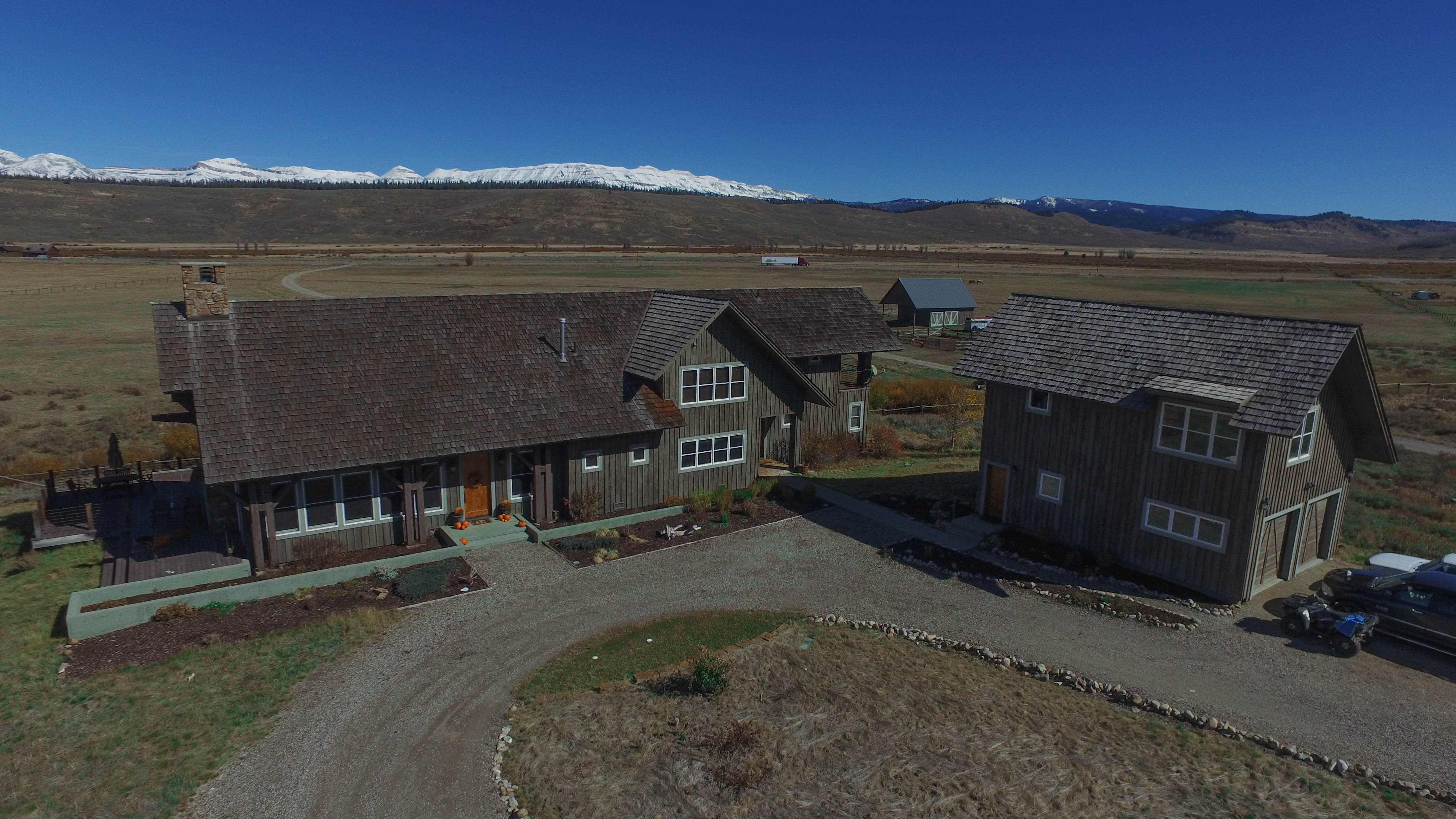 Aerial of Home and Garage
