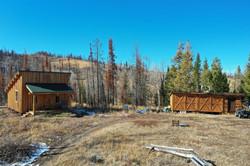 Aerial  Guest Cabin & Storage Building