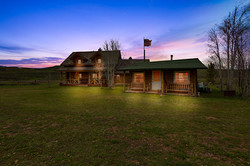 guest cabin and main cabin twilight