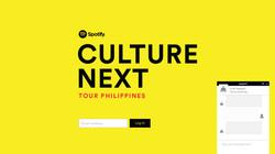 Spotify Culture Next Microsite