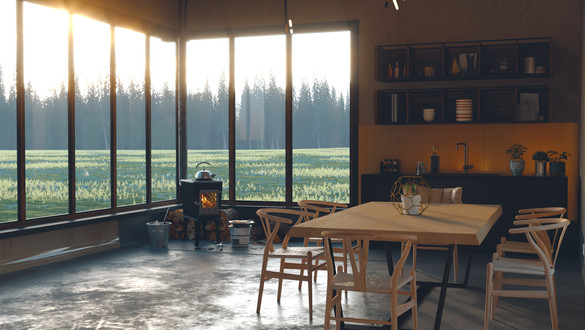 Small House in the Meadow Interior