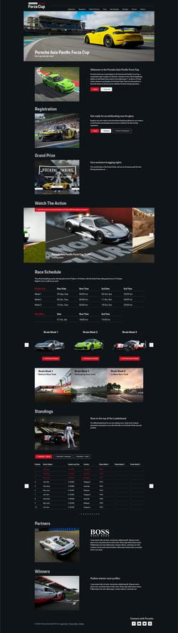 Porsche Microsite Desktop
