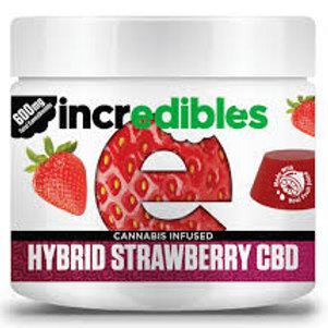 Incredibles Hybrid Strawberry CBD Fruit Chew 600mg 1:1