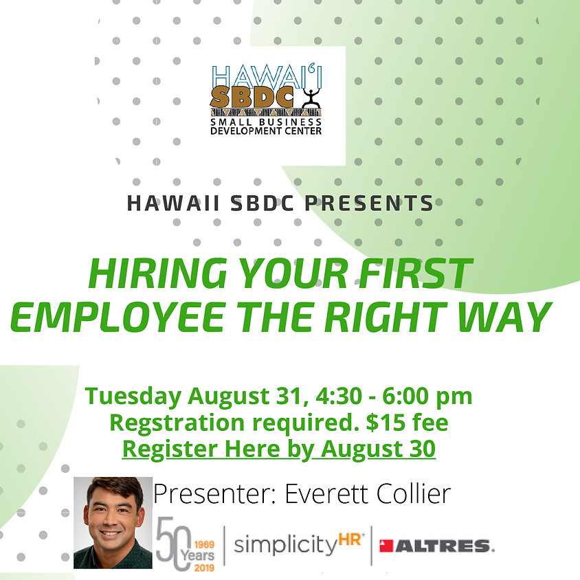 SBDC   Hiring Your First Employee