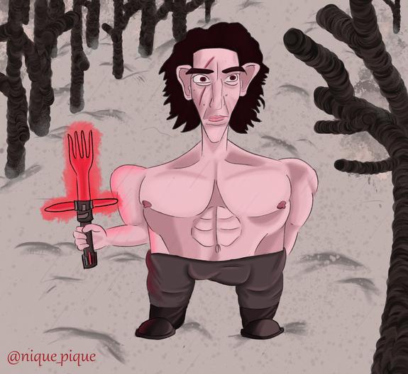 Kylo Ren Caricature