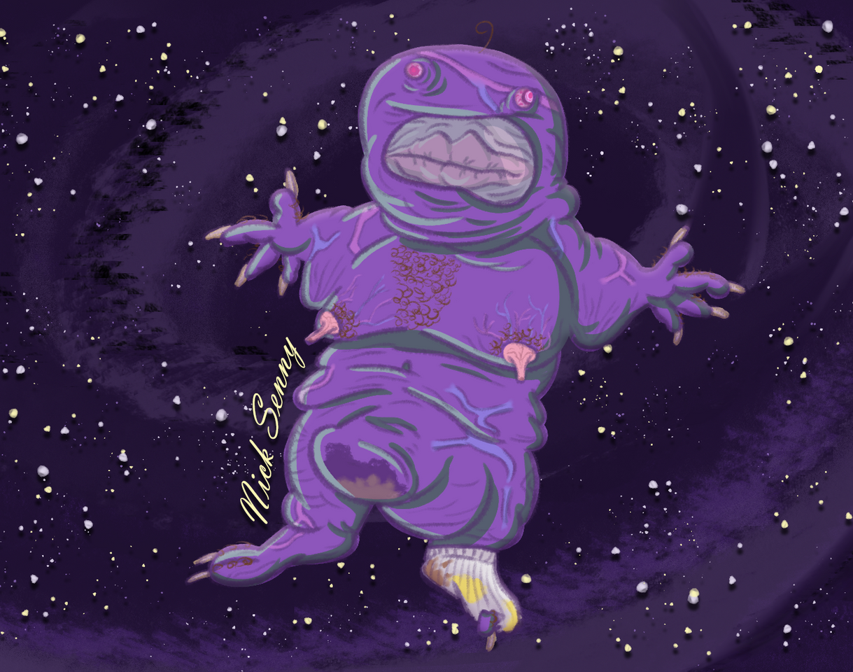 Purple Imposter Drawing
