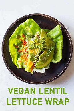 Vegan Lentil Lettuce Wrap