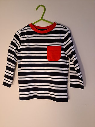 F&F striped Long Sleeve Top (Age 2-3)