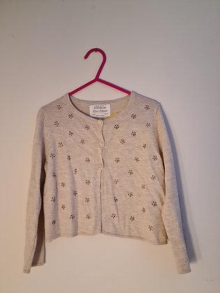 Zara Knitwear Soft Fawn Cardigan (Age 4)