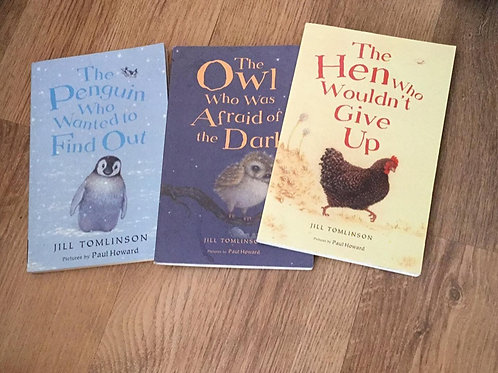 Jill Tomlinson books. Owl Who Was Afraid of the Dark plus others
