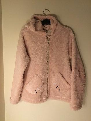 Soft pink hoodie (age 9-10)
