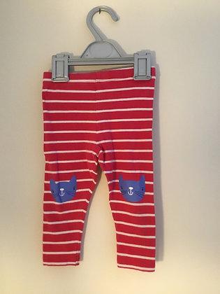 Pink stripy leggings (age 9-12 months)