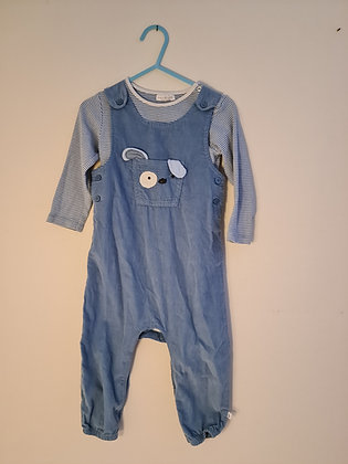 Next Two Piece Dungaree Set (Age 12 -18 months)