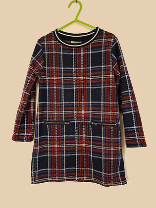 Next Long Sleeve Check Dress (Age 5)