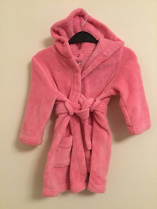 Soft snuggly pink dressing gown
