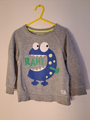 Blue Zoo Grey Sweat Shirt (Age 3 -4)