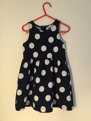 Spotty navy and white dress, H&M (18-24 months)