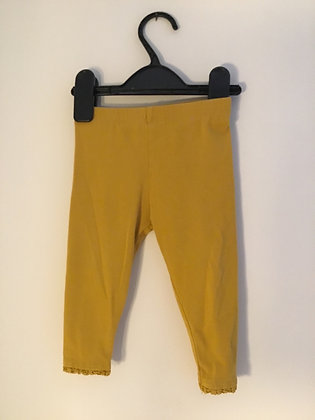 Mustard coloured leggings (age 9-12 months )