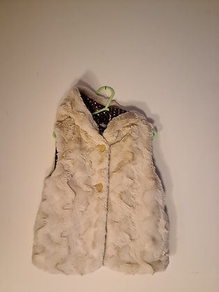 Tu Furry Beige Girls Gilet (Age 2 - 3)