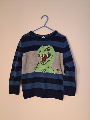 Gap Long Sleeve Dinosaur Jumper (Age 4)