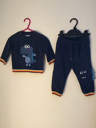 2 piece navy tracksuit (age 9-12 months)