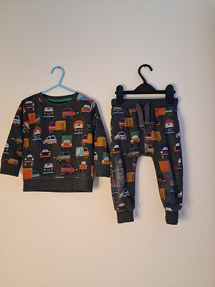 Next Two Piece Soft Jersey Jogger Set (Age 123 - 18 months)