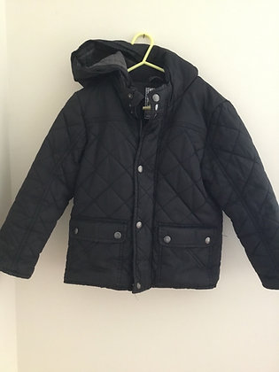 Winter quilted black coat (age 7)