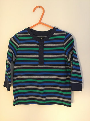 Stripy long sleeve top (age 9-12 months)