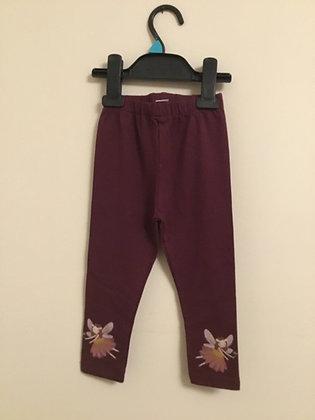 Unworn burgundy leggings 18-24 months