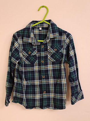 M&S Checked Long Sleeve Shirt (Age 2 - 3)
